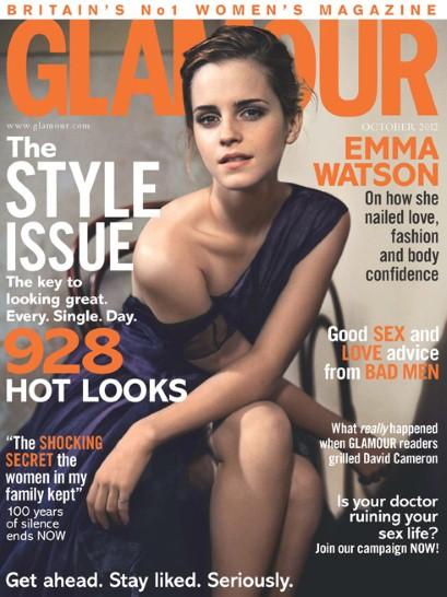 Emma Watson Glamour UK October cover
